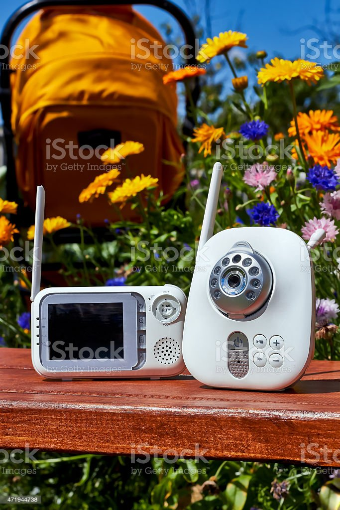 The baby monitor stock photo