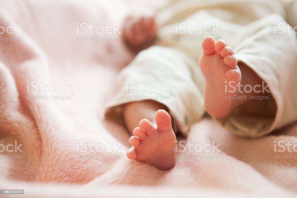 The baby 's feet. royalty-free stock photo