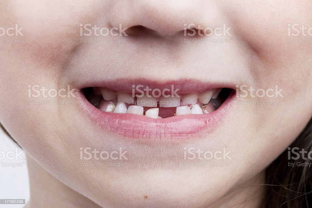 The baby's mouth stock photo