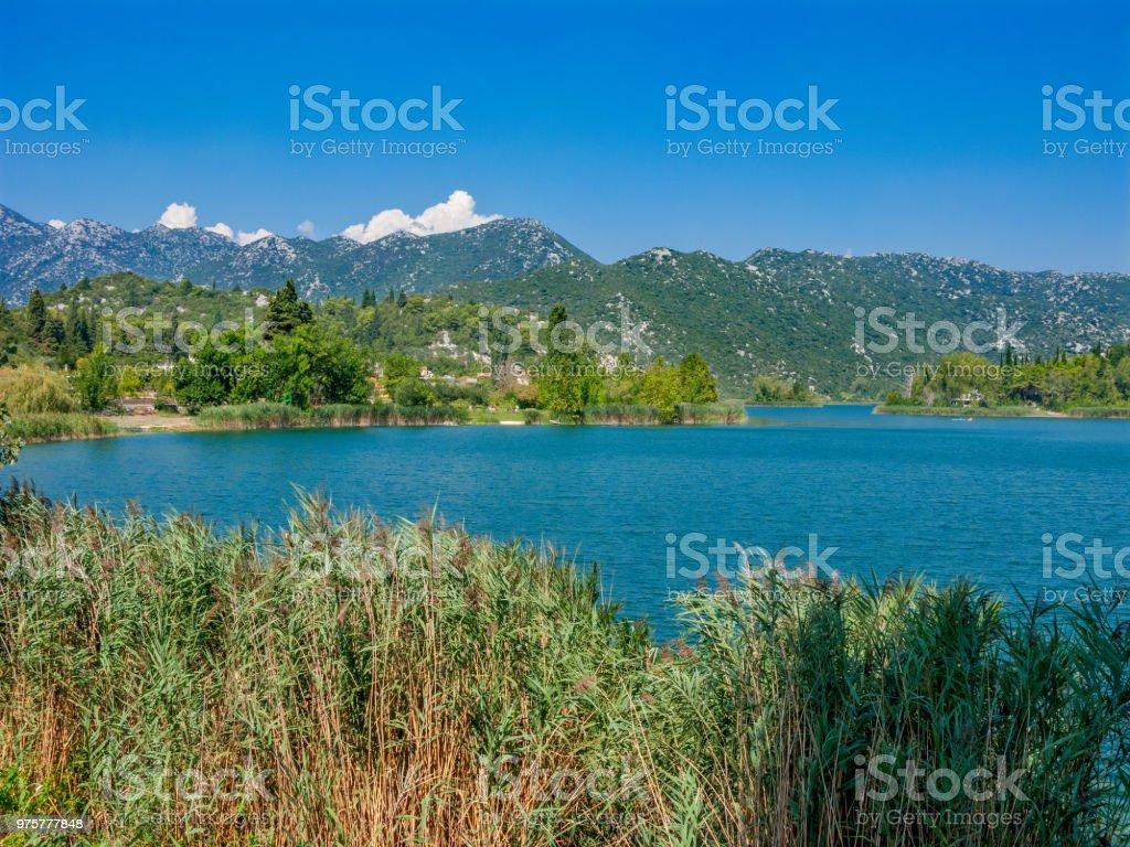 Die Bacinska Seen in der Nähe von Ploce, Dalmatien. - Lizenzfrei Anhöhe Stock-Foto