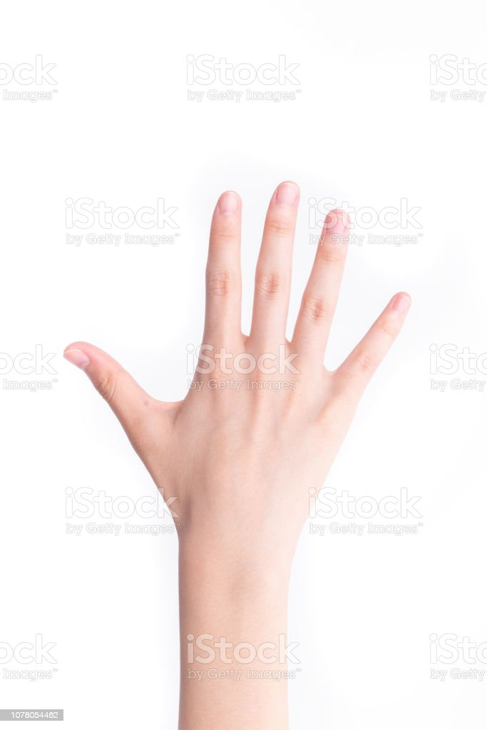 The back of one hand stock photo