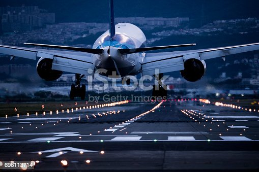 istock The back of the airplane at the depot. 696113714