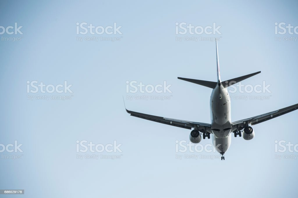 The back of the plane. foto stock royalty-free