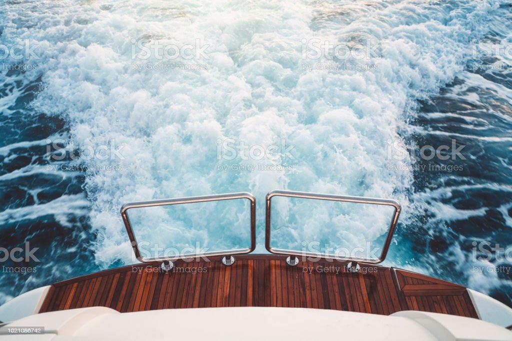 Die Rückseite der yacht – Foto