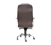 istock The back view of office chair from brown leather. Isolated 1149724992
