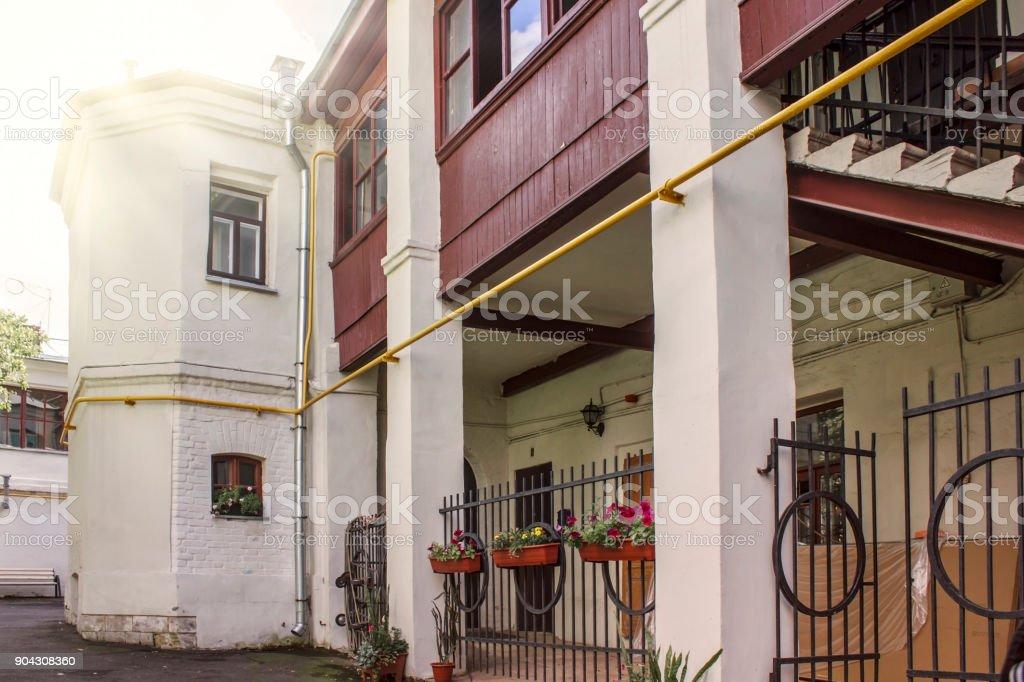 Der Hinterhof Jaroschenko Haus Der Khitrovskaya Platz In