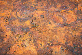 The background of iron rust,The rough surface of the brown metal rust