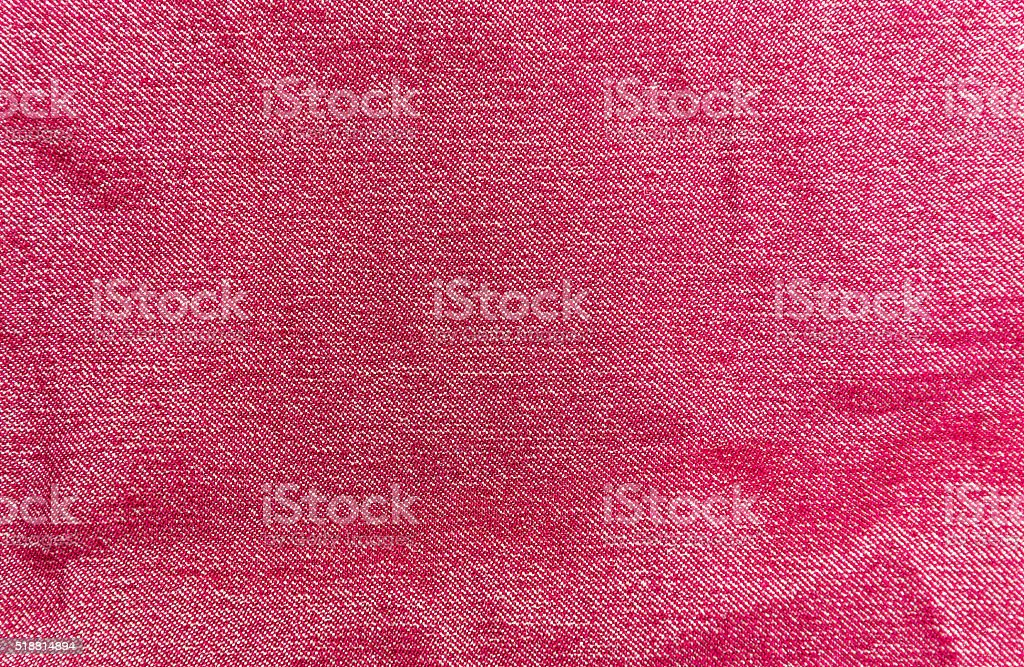 The background of red denim stock photo