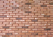 The background of the brick is many colors horizontally which is beautiful.