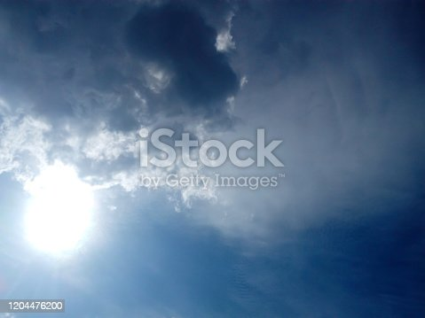 istock The background of the sky with white clouds 1204476200