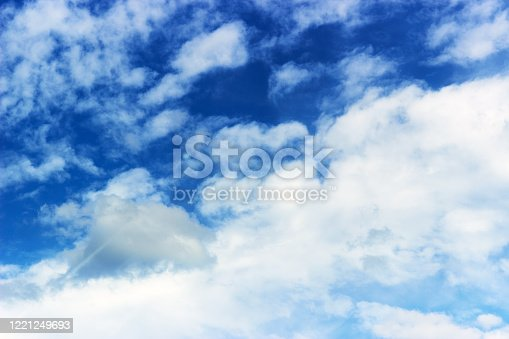 istock The background of the sky with white clouds 1221249693