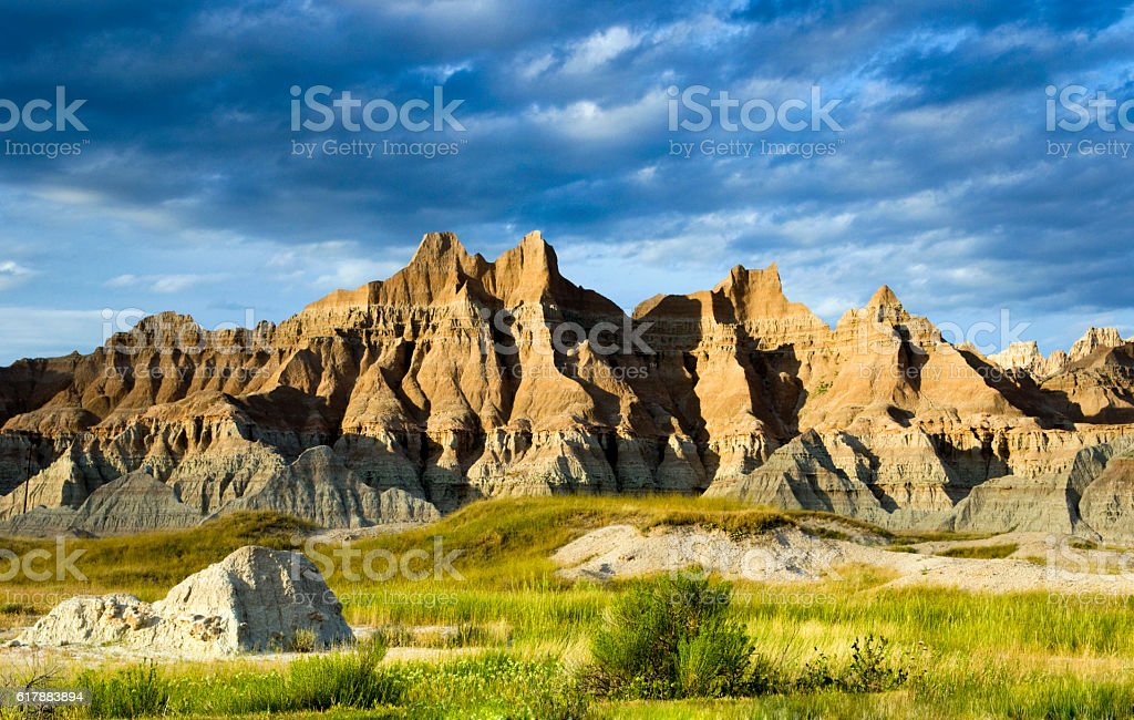 The Badlands National Monument, South Dakota stock photo