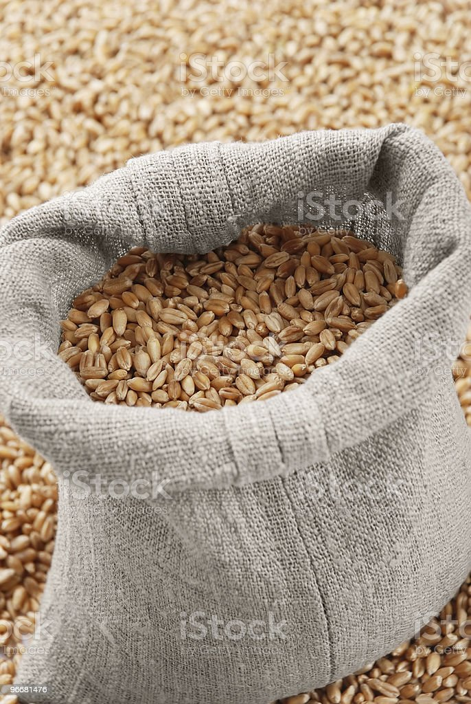 The bag with wheat royalty-free stock photo