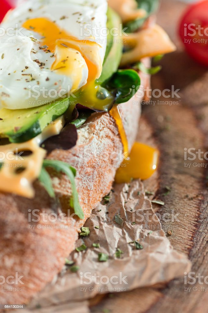 The baguette and cheese on wooden background foto stock royalty-free
