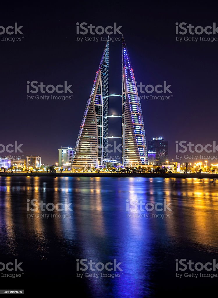 The Bahrain World Trade Center stock photo