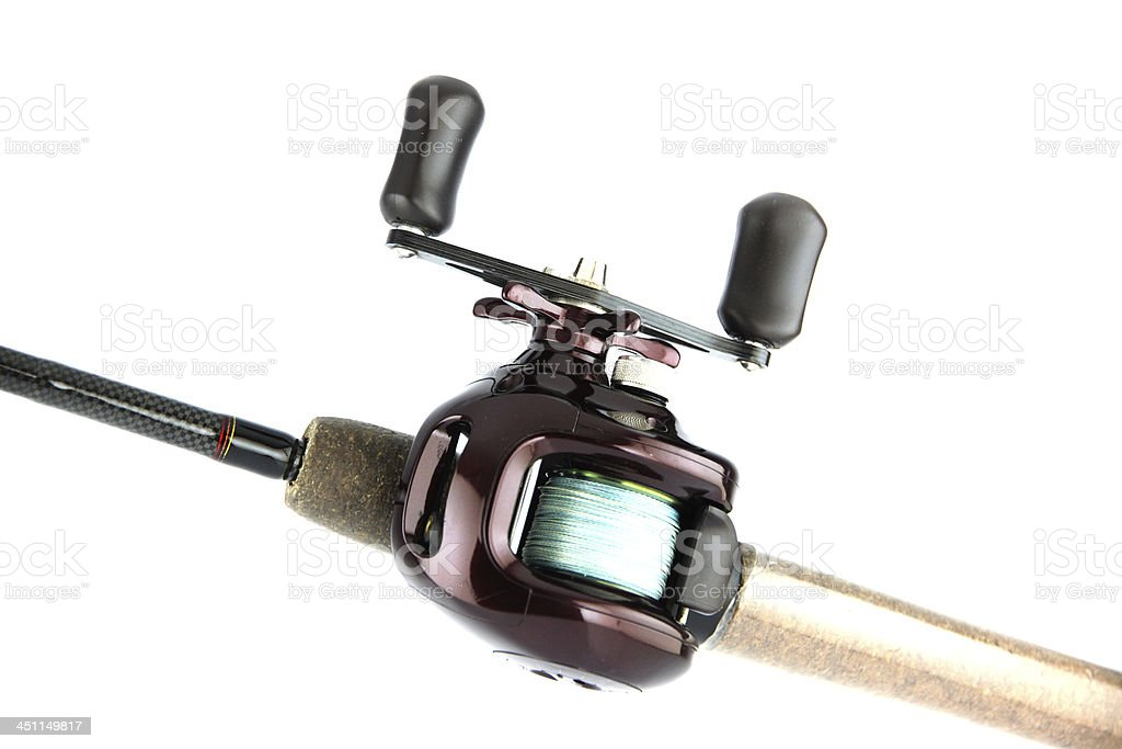 The Baitcasting is Violet Color. stock photo