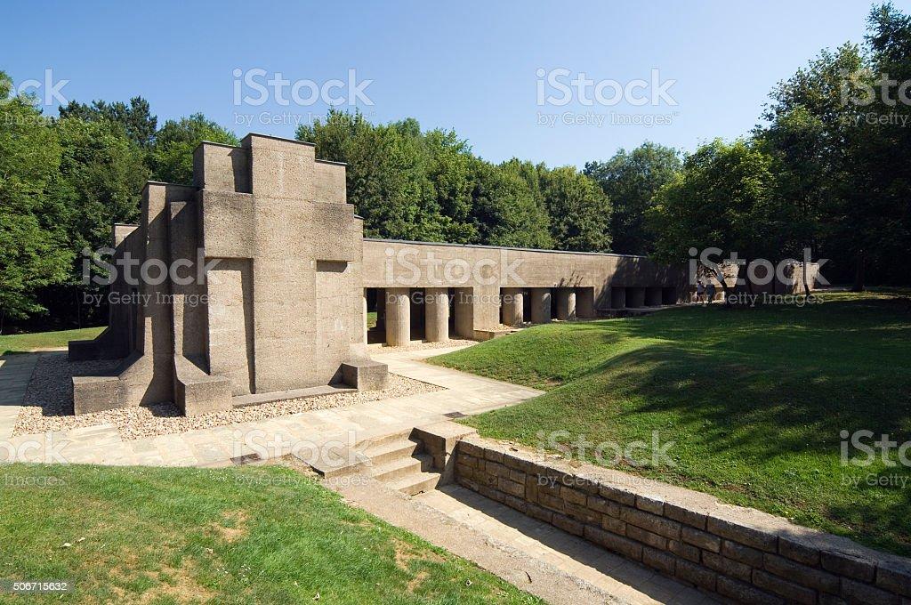 The Bajonet Rów Memorial, wojny światowej 1 w pobliżu Verdun – zdjęcie