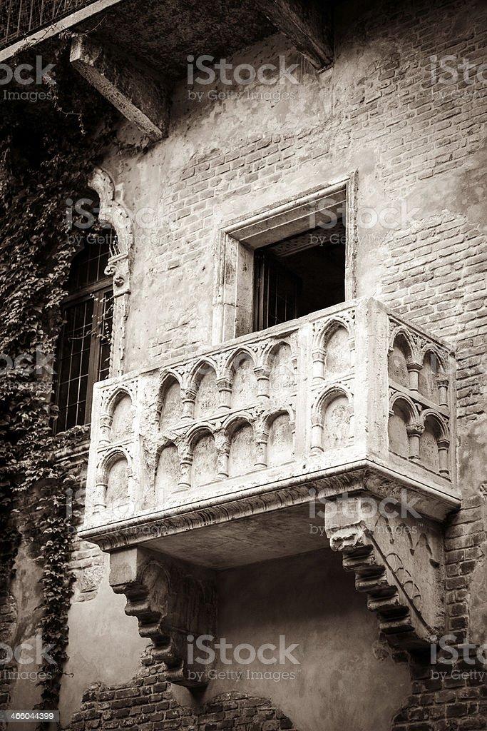 The Balcony of Juliet in Verona, Italy. stock photo
