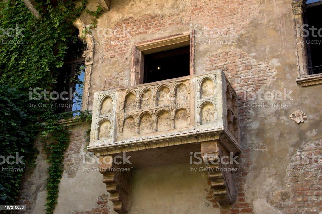 The balcony of Romeo and Juliet in Verona stock photo