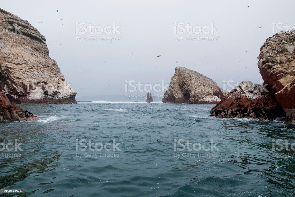 The Ballestas Islands - Pisco - Peru stock photo