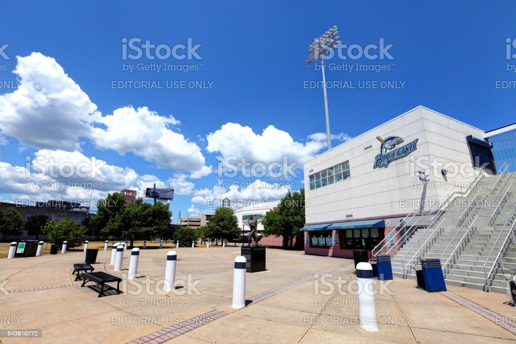 The Ballpark at Harbor Yard in Bridgeport stock photo