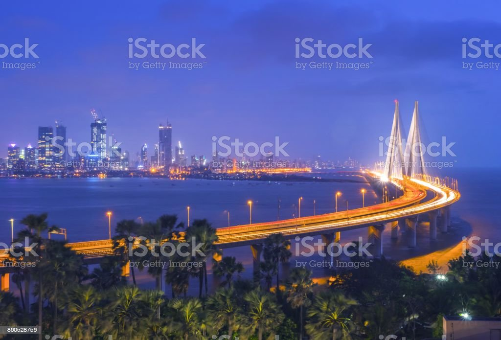 The Bandra–Worli Sea Link, Mumbai India stock photo