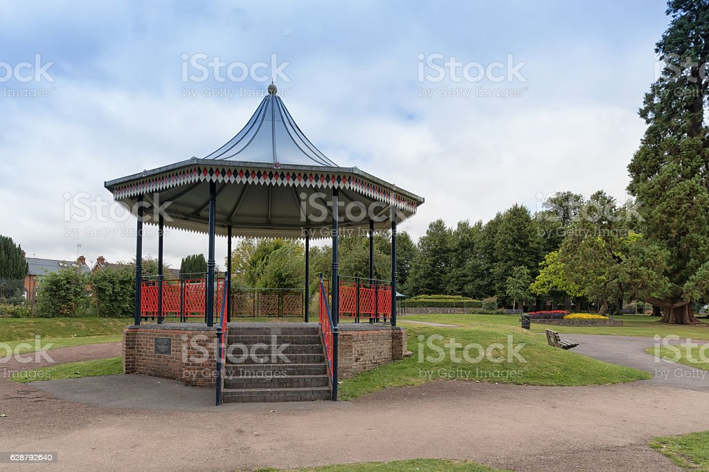 The bandstand in Alton town park, Hampshire, England stock photo