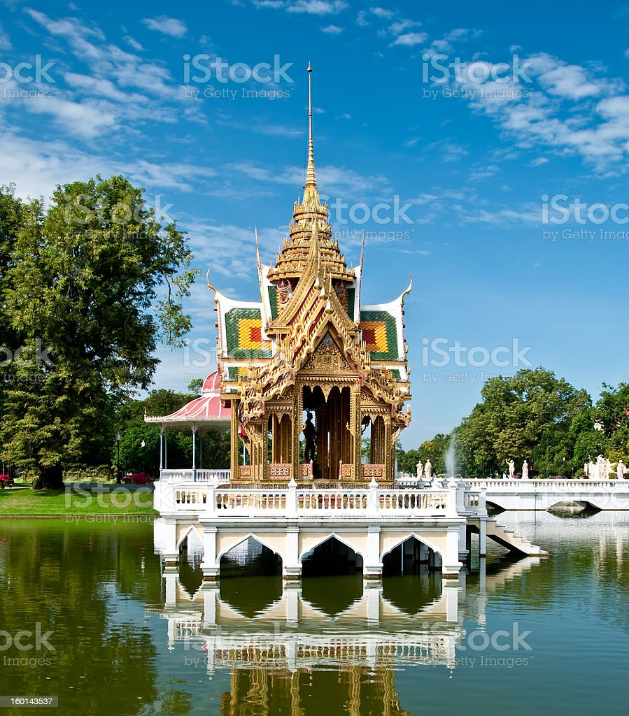 The Bang Pa-In's Aisawan Thipya-Art pavilion (Divine Seat of Per stock photo