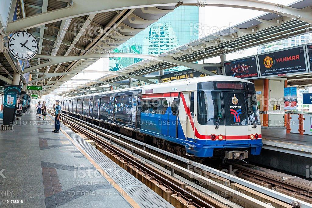 The Bangkok Mass Transit System (BTS) in Bangkok, Thailand stock photo