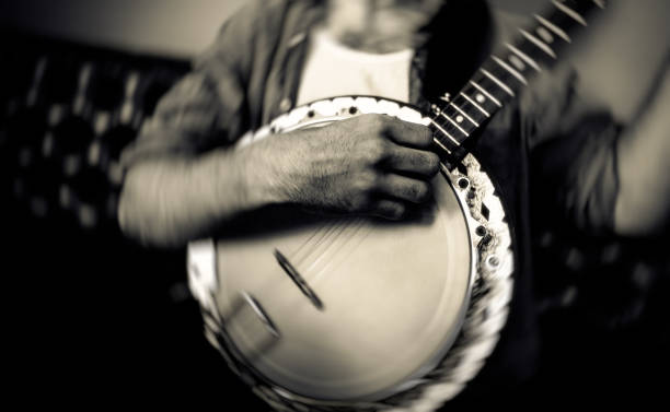 The banjo player in the bar The banjo player in the bar folk music stock pictures, royalty-free photos & images