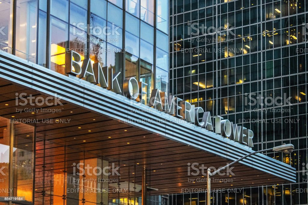 The Bank of America Tower stock photo