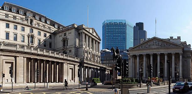 Die Bank von England und Royal Exchange, London – Foto