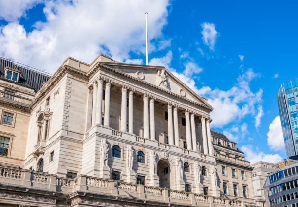 The Bank of England in central London stock photo