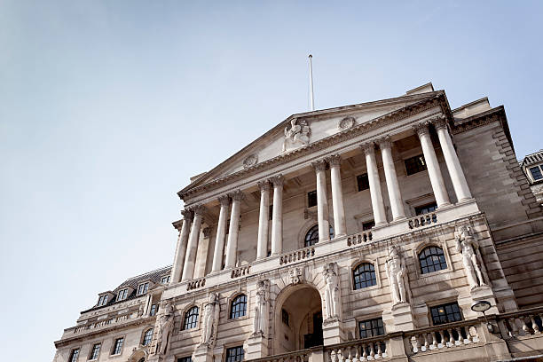 The Bank of England in London stock photo