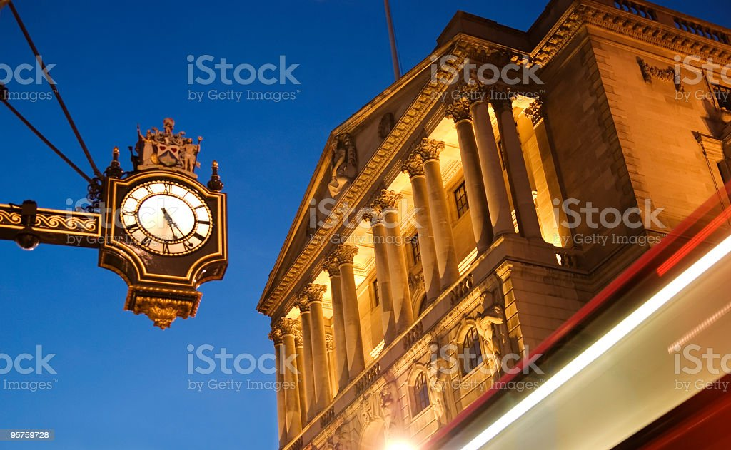 The Bank of England, London stock photo