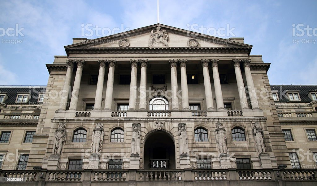 The Bank Of England royalty-free stock photo