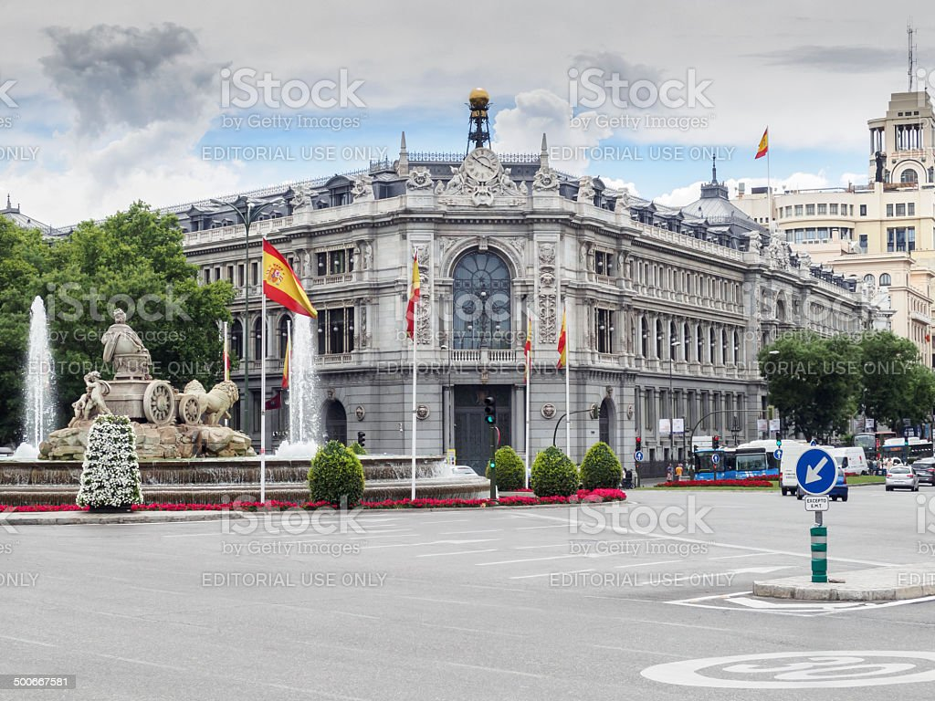 The Bank of Spain stock photo