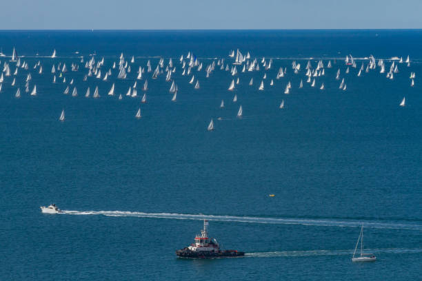 The Barcolana Regatta 49th Edition (2017 - Sailing Autumn Cup) stock photo