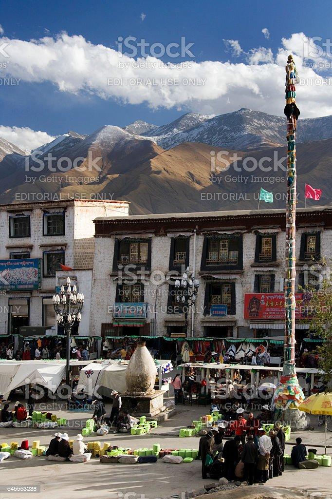 The Barkhor - Lhasa - Tibet stock photo