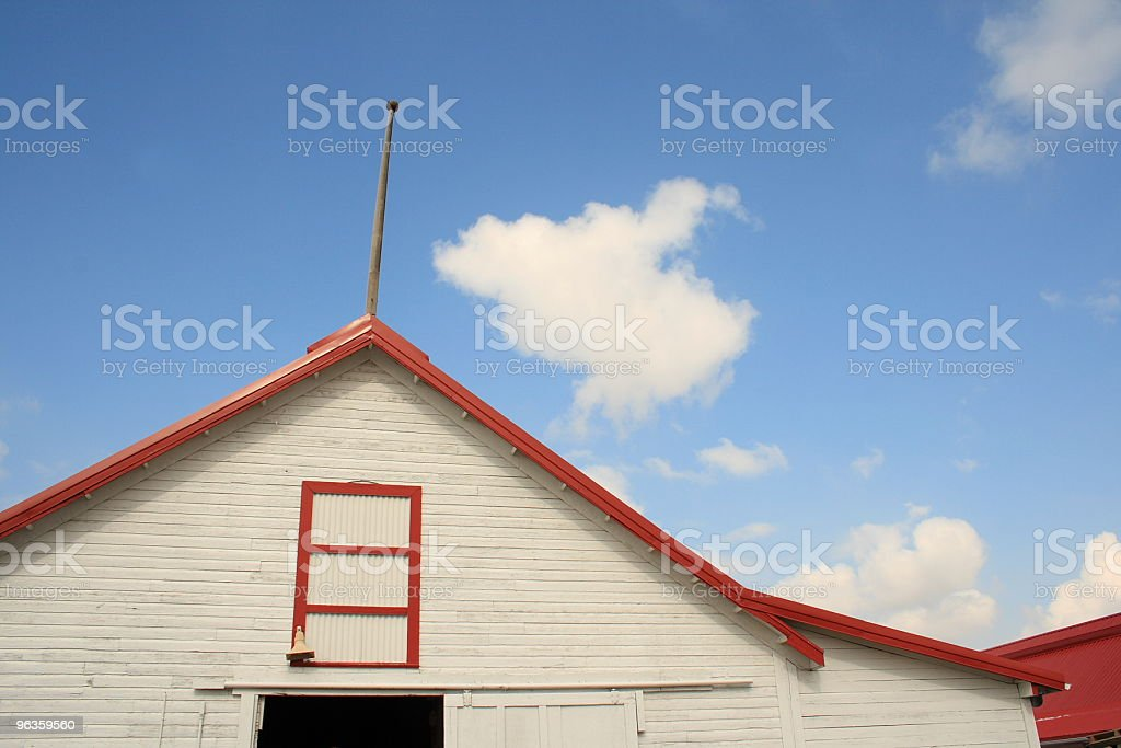 the barn - white with red trim royalty-free stock photo