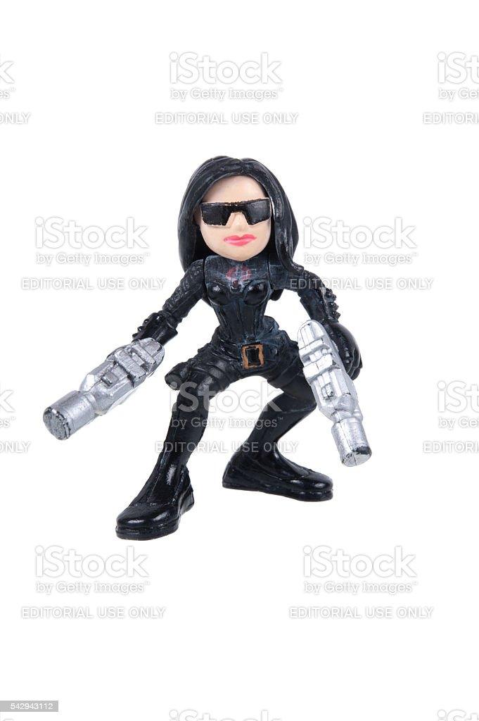 A senhora Baronesa GI Joe combater os heróis de ação - foto de acervo