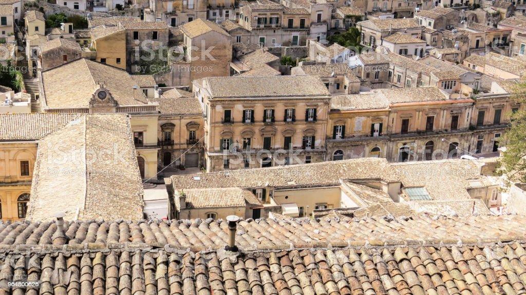 Die barocke Stadt von Modica, Sizilien, Italien - Lizenzfrei Architektur Stock-Foto