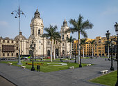 The Basilica Cathedral of Lima at Plaza Mayor - Lima, Peru