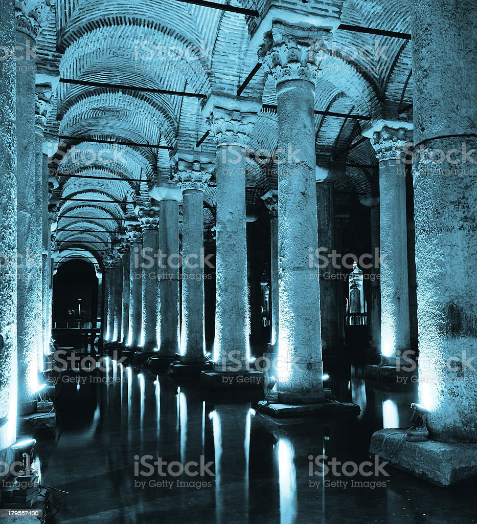 The Basilica Cistern in Istanbul. stock photo