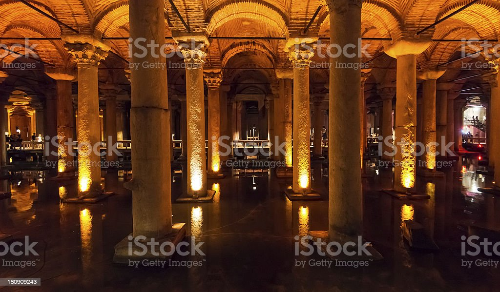 The Basilica Cistern in Istanbul, Turkey stock photo