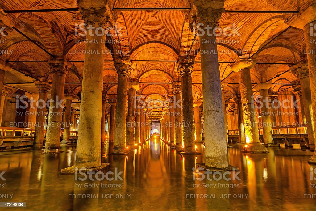 The Basilica Cistern, Istanbul stock photo