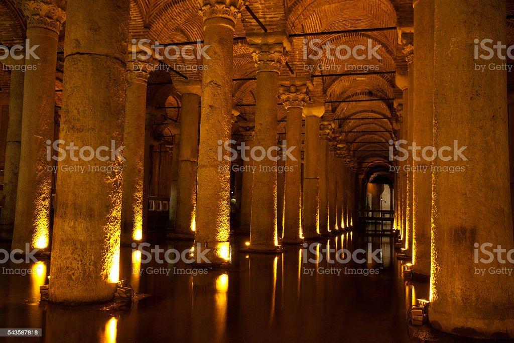 The Basilica Cistern Istanbul, Turkey stock photo