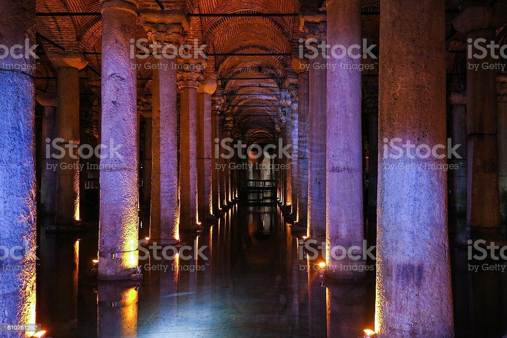 The Basilica Cistern - underground water reservoir. Istanbul, Tu stock photo