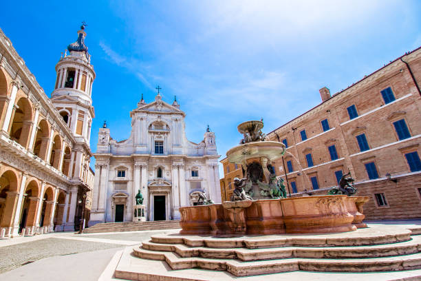 the basilica della santa casa in loreto, italy - della stock pictures, royalty-free photos & images