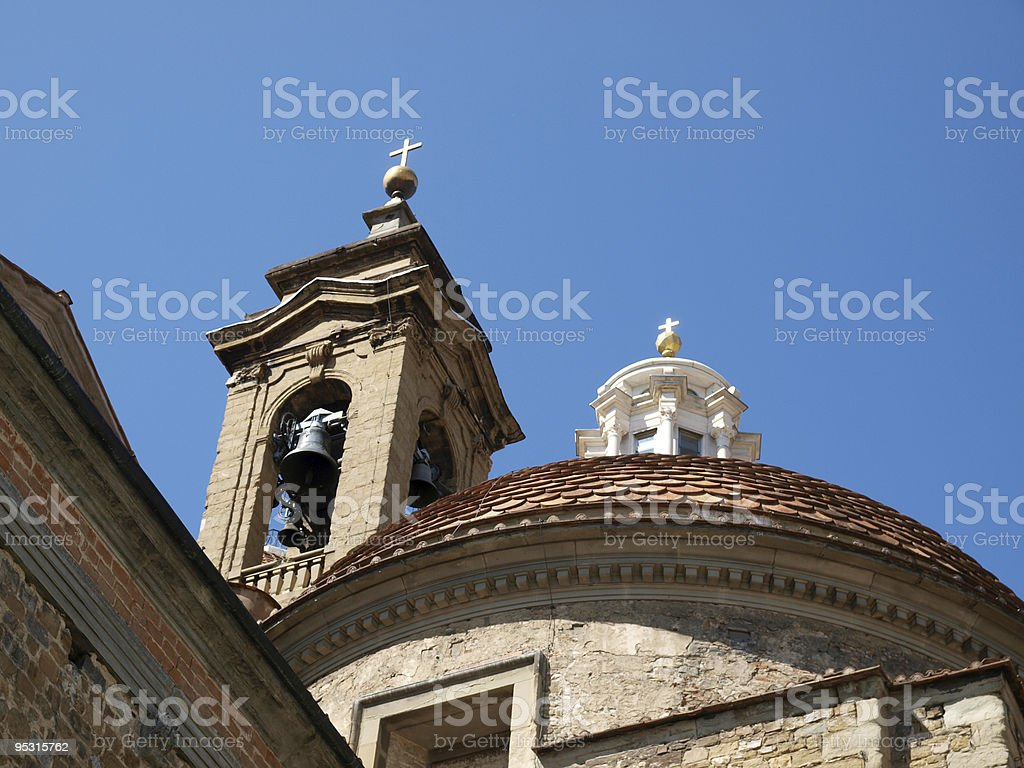 The Basilica di San Lorenzo - Florence royalty-free stock photo